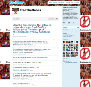 Free the Babes Twitter Homepage