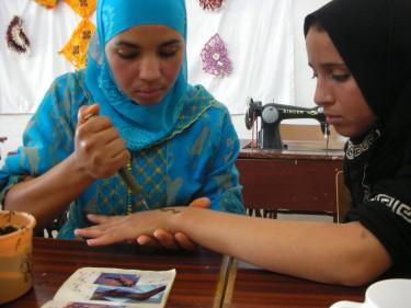 Toepassing van henna in Marokko