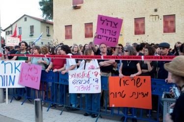 Manifestanti a Tel Aviv