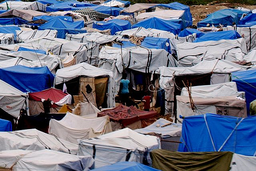Tent City in Haiti by Edyta Materka
