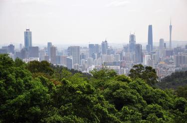 Tianhe, Guangzhou; from Baiyun Shan