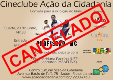 Film club cancelled