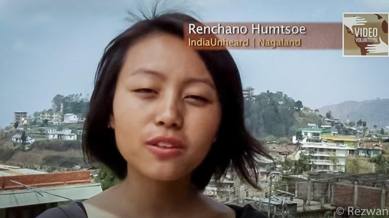 Renchano Humptsoe, IndiaUnheard, Nagaland. Screenshot from YouTube video by VideoVolunteers.