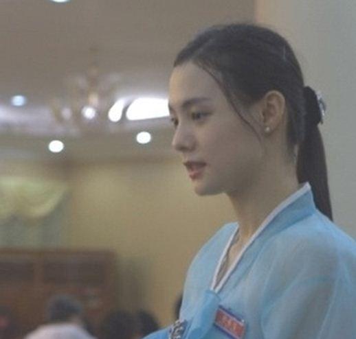 north korean girls. A North Korean waitress who