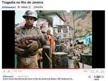 Frane nello Stato di Rio de Janeiro