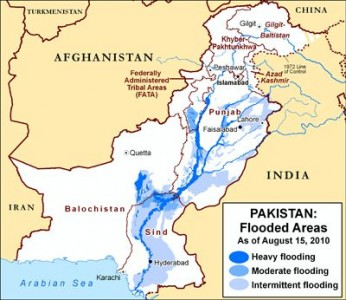 Pakistan Flood Map. Image Courtesy US Department Of State Pakistan Flood Disaster Relief Page