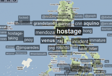 Trendsmap (mappa in tempo reale dei temi più seguiti su Twitter)