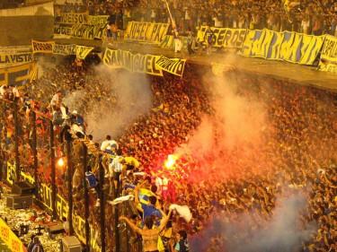 Il Boca Juniors contro il Pumas, dicembre 2005