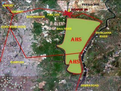 Mappa del Progetto edilizio militare, AHS (Army housing scheme)