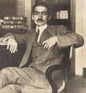 Picture of Monteiro Lobato, circa 1920. Image in public domain.
