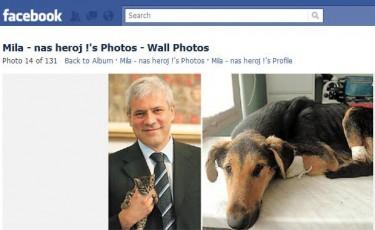 Tadic adotta il cane mutilato Mila
