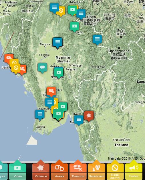 Cartina degli incidenti elettorali