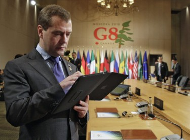 President Medvedev with iPad