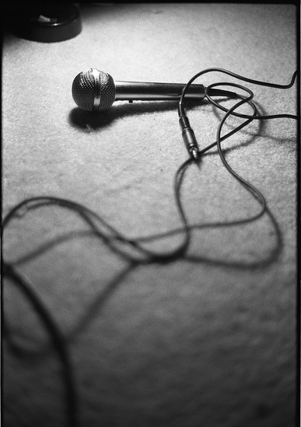 Microphone image by Flickr user ganatronic used under a Creative Commons Attribution-Share Alike license