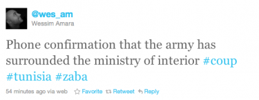 Messaggio su Twitter del 12 gennaio 2011