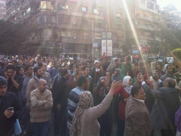 Demonstrators calling for economic and political reform in Egypt broke through police barriers on January 25 in Cairo's streets