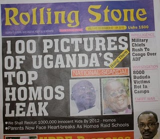 "Rolling Stone ""100 Pictures of Uganda's Top Homos Leak: Hang Them"""