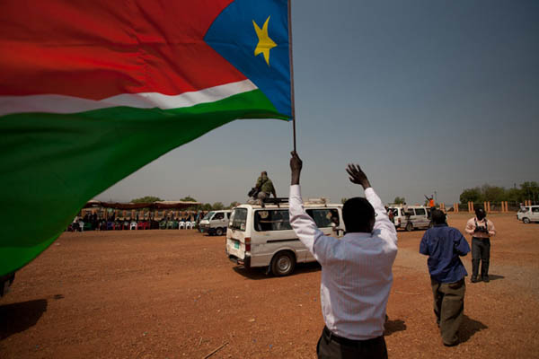 La bandiera del Sud Sudan