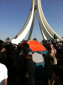 First tent struck at around 4pm Bahrain local time. @yslaise: FROM FACEBOOK: First tent in Pearl Roundabout #Feb14 #Bahrain http://twitpic.com/403h1a