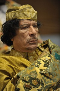 Gaddafi at the 12th African Union summit. Image by US Government, in the public domain.
