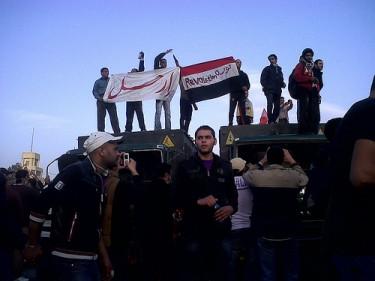 Foto di manifestanti per la democrazia in Egitto(28/01/2011, di monasosh)