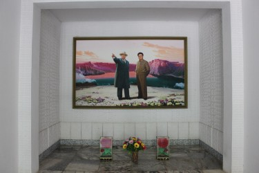 Images of Kim Il Sung & Kim Jung Il are ubiquitous throughout the DPRK (North Korea). Image by Philippe Piessens, copyright © Demotix (02/07/2010).