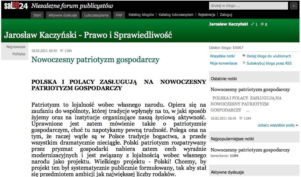 Kaczynski Blog
