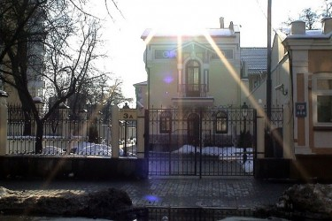 Recent view of a building on Yaroslaviv Val street - photo by George