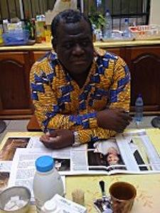 Opposition 'Prime Minister' Bandega-Lendoye in the Libreville UNDP building, February 2011. Image by Le Gri-Gri International.