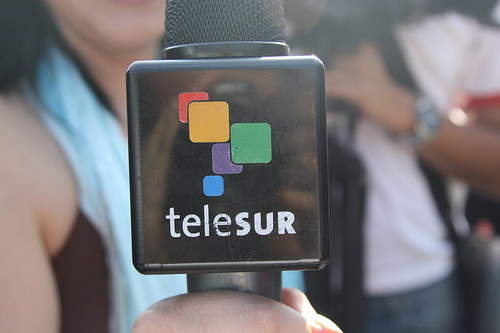 Latin American news channel teleSUR. Image by Flickr user alejandro! (CC BY-NC 2.0).