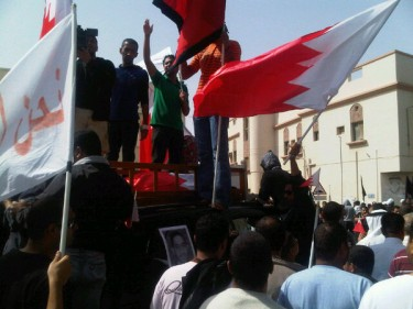 Funeral procession in Sitra