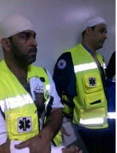 Injured Paramedics in Salmaniya Hospital