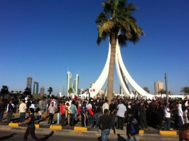 Protesters reclaiming Lulu Roundabout
