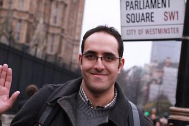 Tarek in un recente viaggio a Londra