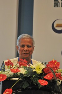 Muhammad Yunus speaks at the Global Think Tank Summit