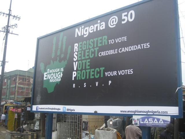 An EiE Nigeria billboard in Lagos Nigeria