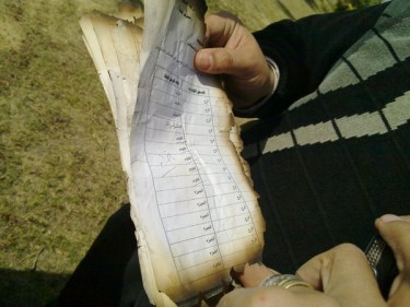 Some of the half-burnt documents #amndawla #october