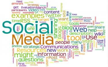 Social Media Wordle, praca użytkownika Flickr, Nancy White (CC BY-NC-SA 2.0)