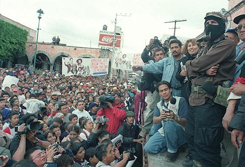 Il subcomandate Marcos a Zitácuaro, Michoacán, Messico