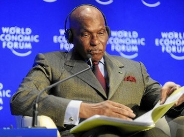 Abdoulaye Wade, President of Senegal. Image by Flickr user World Economic Forum (CC BY-SA 2.0).