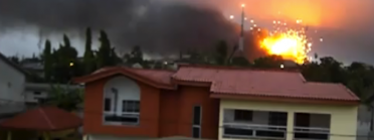 Bombardment in Abidjan, Cote d'Ivoire, April 4, 2011. Screenshot from YouTube video uploaded by MLDoss1.