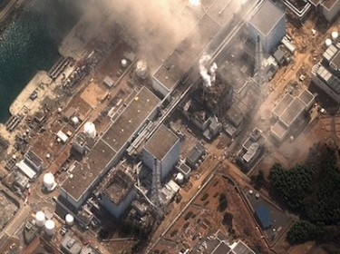 Earthquake and tsunami damaged-Fukushima Dai Ichi Power Plant, Japan. Image by www.digitalglobe.com.