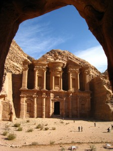 Iconic Jordanian heritage - the Monastery at Petra. Image by Flickr user betta design (CC BY-NC 2.0).