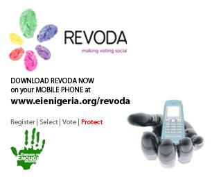 ReVoDa, aplikacja do telefonów komórkowych, która umożliwia niedoświadczonym obywatelom dzielenie się swoimi doświadczeniami podczas wyborów. Źródło: blog Gbenga Sesan