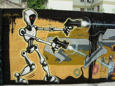 Graffiti robot. Image by Flickr user jlmaral (CC BY-SA 2.0).