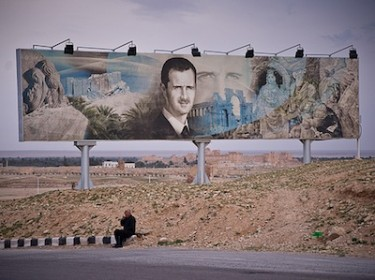Billboard showing Syrian President President Bashar Al Assad, July 2010. Image by Flickr user sharnik (CC BY-NC 2.0).