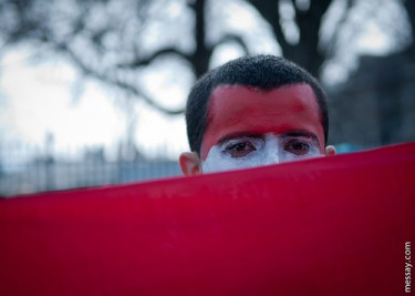 Yemeni protestor outside White House, USA. Image by Flickr user messay.com (CC BY-NC-ND 2.0).