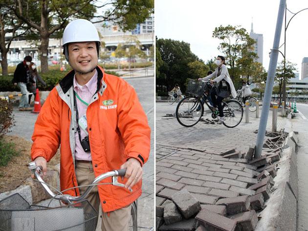 Foto del terremoto a Chiba