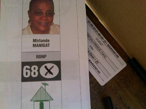 J'ai pu finalement voter la personne la plus apte apporter le changement qu'attend Haiti!