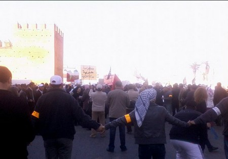 Manifestazioni pacifiche a Rabat